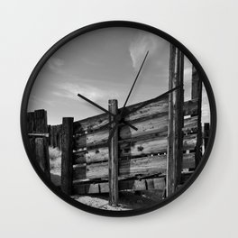 Sun Decayed Corral Wall Clock