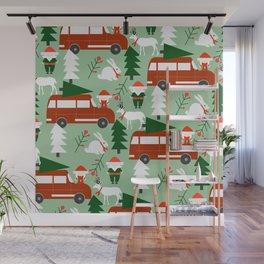 Christmas drive Wall Mural