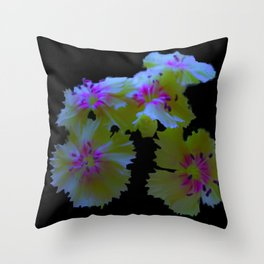 psychedelic poppy flower Throw Pillow