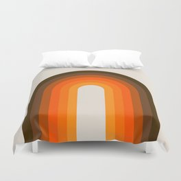 Golden Rainbow Duvet Cover