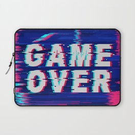 Game Over Glitch Text Distorted Laptop Sleeve