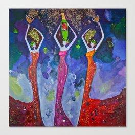 Three Graces Of Tasting Canvas Print