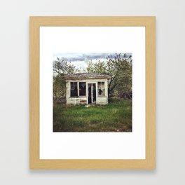 outside Kalispell Framed Art Print