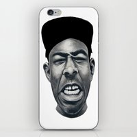 tyler the creator iPhone & iPod Skins featuring IFHY (Tyler the creator) by Black Neon