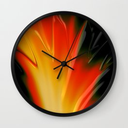 FLAME yellow orange red bonfire Wall Clock