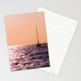 Sunset sailing Stationery Cards