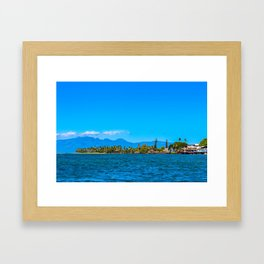 Lahaina Landscape  Framed Art Print
