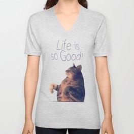 Dancing Kitty Cat Unisex V-Neck