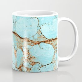 Cracked Turquoise & Rust Coffee Mug
