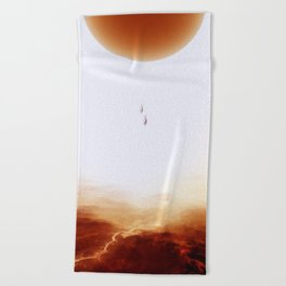 Mars Diving Beach Towel