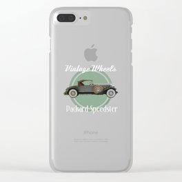 Vintage Wheels - Packard Speedster Clear iPhone Case