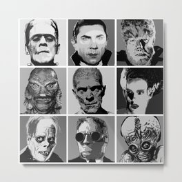 Universal Warhol Black&White Metal Print