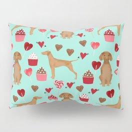 Vizsla valentines day dog breed gifts for dog lover unique dog pet portraits animal art Pillow Sham