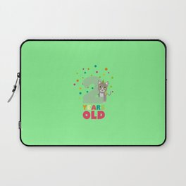 Two Years second Birthday Party Cat T-Shirt D7fw4 Laptop Sleeve