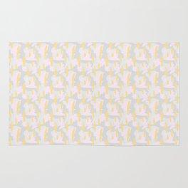 1980s Inspired Paint Brush Pattern Rug