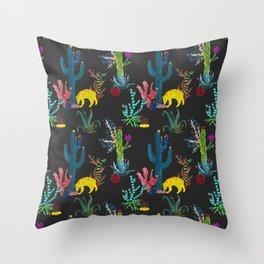 Mexican Cacti Throw Pillow