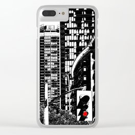 Red Traffic Light Clear iPhone Case