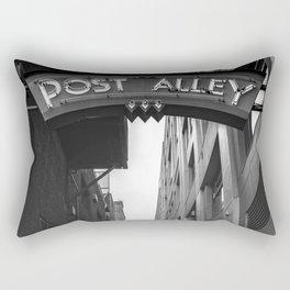 Post Alley in Seattle Washington - Black and White Rectangular Pillow