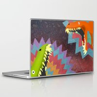dinosaurs Laptop & iPad Skins featuring DINOSAURS by Cody Weber
