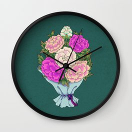 Minhwa: Peony Bouquet F Type Wall Clock