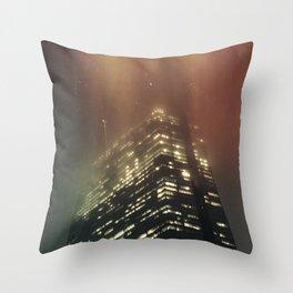 Misty Tower Throw Pillow