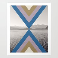 Boho Arrows of Lake Wanaka Art Print