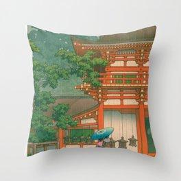 Kawase Yusui made Nara Kasuga Taisha Throw Pillow