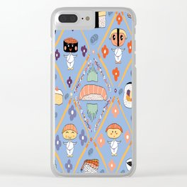 Japanese Kawaii Sushi Nodders Bobbleheads Clear iPhone Case