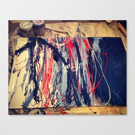 Blue_Red_In Process Canvas Print
