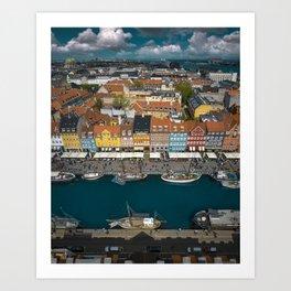 Colorful houses of Copenhagen Art Print