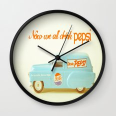 Now we all drink Pepsi Wall Clock