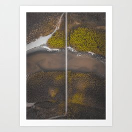 """Bridging The Gap"" - South Milton Sands - Aerial - Devon Art Print"