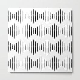 Black and White Pattern II Metal Print