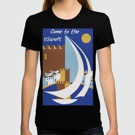 Come to the islands retro travel T-shirt