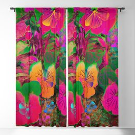 Floral abstract 108 Blackout Curtain