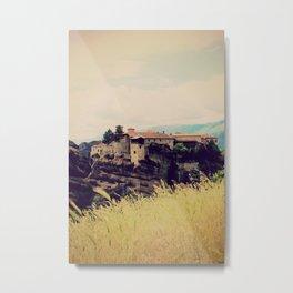 Meteora Monasteries Metal Print