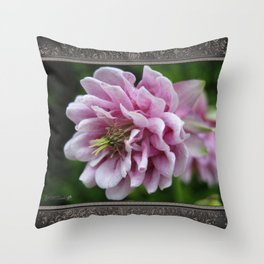 Double Columbine named Pink Tower Throw Pillow