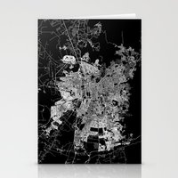 chile Stationery Cards featuring Santiago map Chile by Line Line Lines