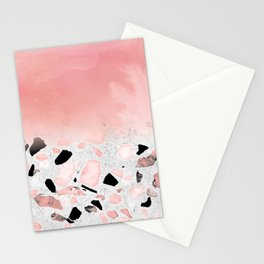 Modern abstract watercolor and marble design Stationery Cards