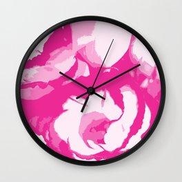 pink lisianthus Wall Clock