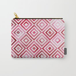 Red Diamonds Carry-All Pouch