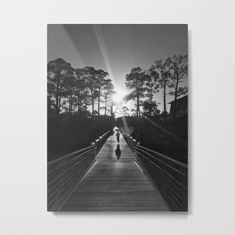 Southern Living - Watercolor, Florida (B&W) Metal Print