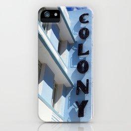 Colony Hotel: Miami Art Deco iPhone Case