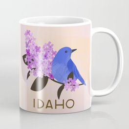 Idaho State Bird and Flower Coffee Mug