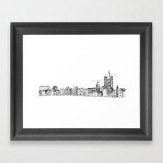 sketchy town Framed Art Print