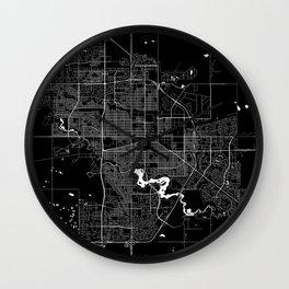 Regina - Minimalist City Map Wall Clock
