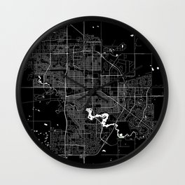 Regina - Minimalist City Map Wall Clock