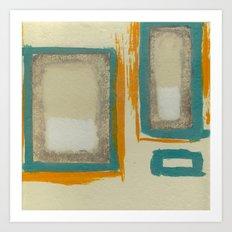 Soft And Bold Rothko Inspired - Modern Art - Teal Blue Orange Beige Art Print