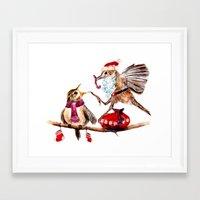santa Framed Art Prints featuring Santa by Anna Shell