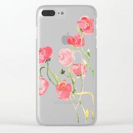 Ranunculus Clear iPhone Case